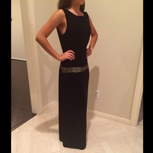 Black Formal with sequined stripe❤️
